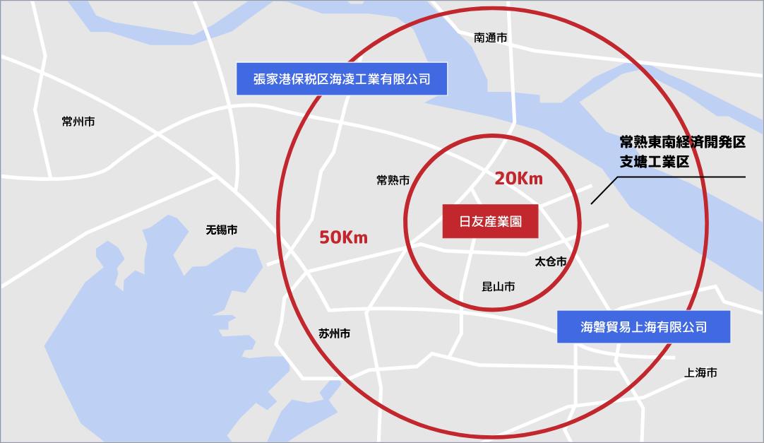 海泰置業(蘇州)有限公司、海静機械(常熟)有限公司 地図